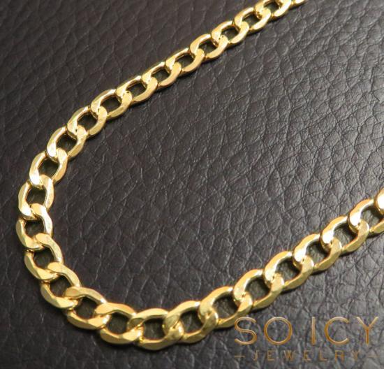 10k Yellow Gold Hollow Cuban Chain 18-26 Inch 4.50mm