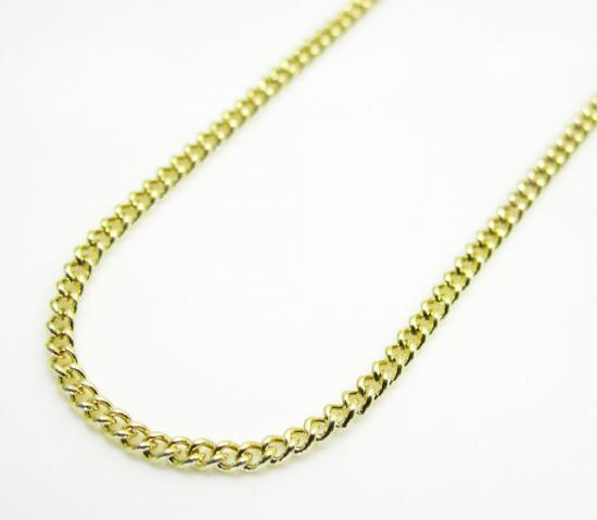 10k Yellow Gold Skinny Hollow Miami Chain 16-24 Inch 1.50mm