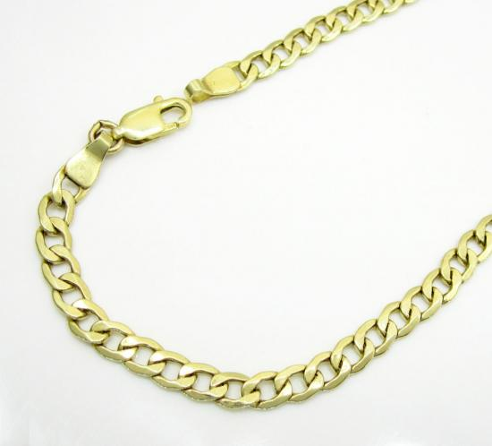 10k Yellow Gold Cuban Bracelet 8 Inch 4.2mm