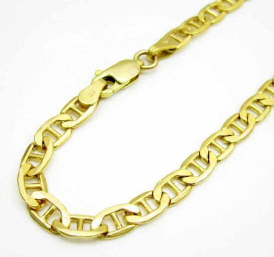 10k Yellow Gold Mariner Bracelet 8 Inch 4.2mm