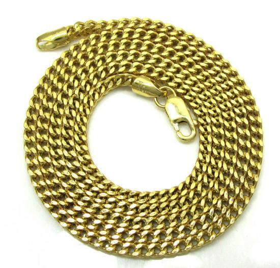 10k Yellow Gold Franco Box Chain 20 Inch 2mm