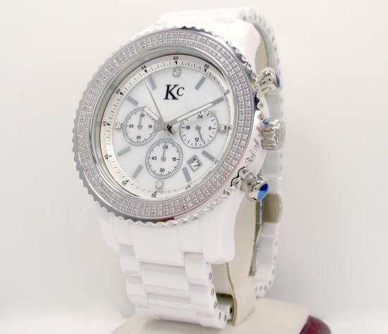 2.00ct Mens Techno Com By Kc Diamond Watch 'white Ceramic'