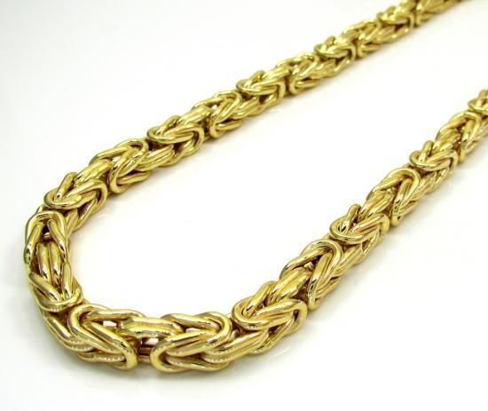 10k Yellow Gold Byzantine Chain 24-30 Inch 5.8mm
