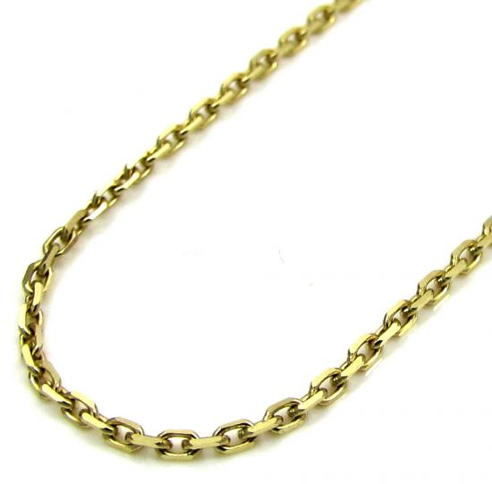 10k Yellow Gold Skinny Cable Chain 18-20 Inch 1mm