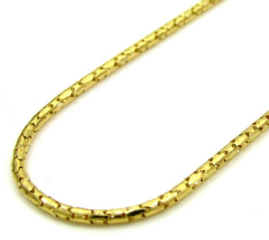 10k Yellow Gold Skinny Tube Chain 20-24 Inch 1.0mm