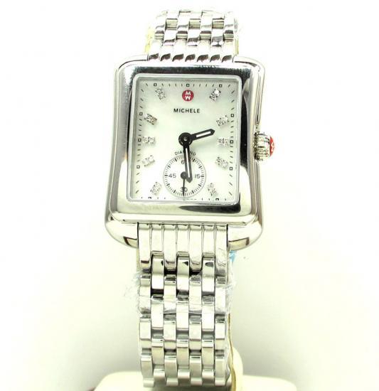 Ladies Michele Michele Deco Moderne Diamond Watch Mww06y000013