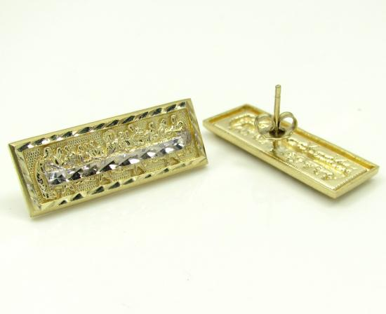 10k Yellow Gold Two Tone Jesus Apostles Last Supper Earrings