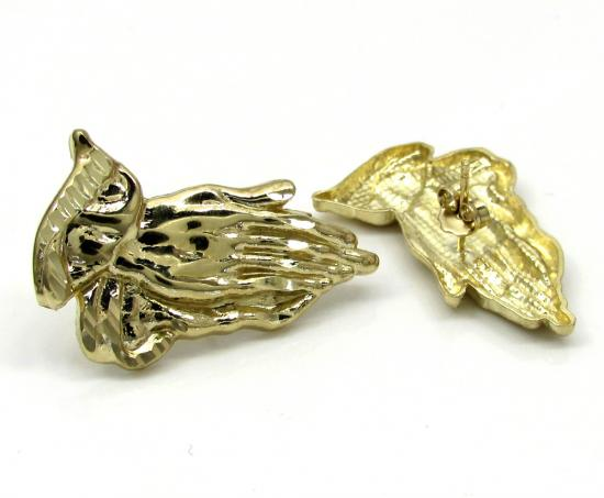 10k Yellow Gold Small Praying Hand Earrings
