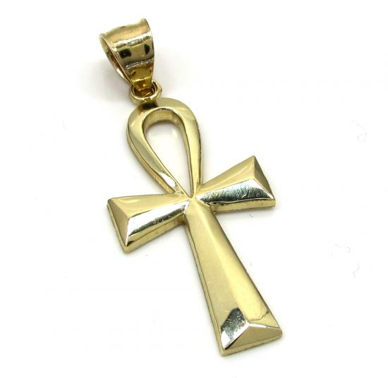 10k Yellow Gold Ankh Medium Cross