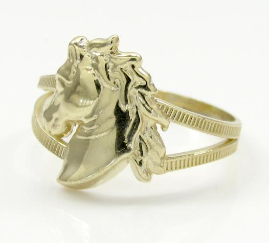 10k Yellow Gold Horse Head Ring