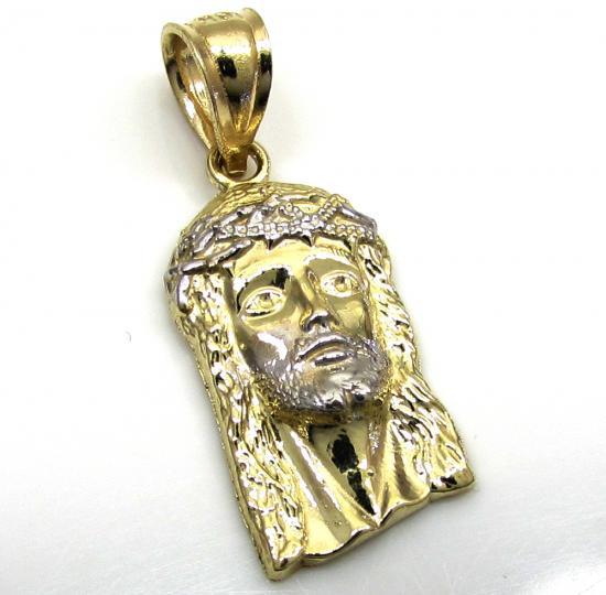 10k Yellow Gold Micro Jesus Face Pendant 0.50 Grams