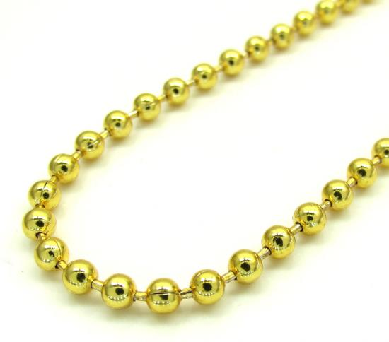 Yellow Stainless Steel Bead Chain 32 Inches 2.50mm