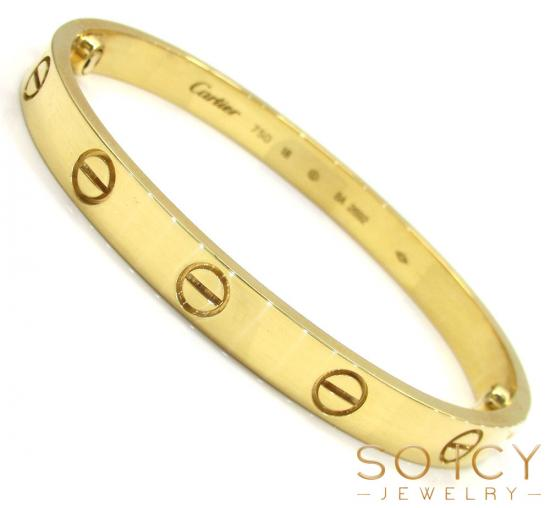 18k Yellow Gold Cartier Love Bracelet 17cm