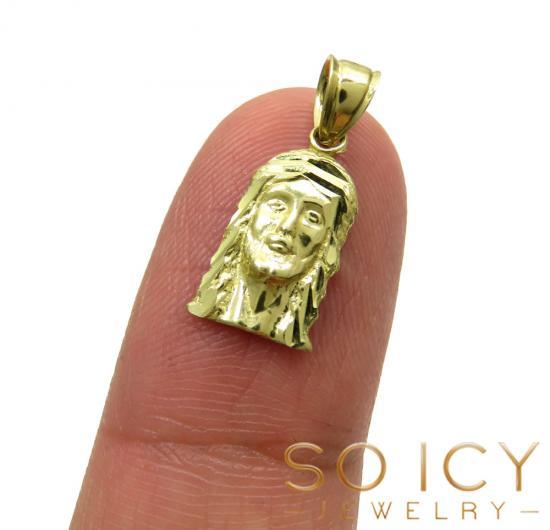 10k Yellow Gold Mini Jesus Piece Pendant