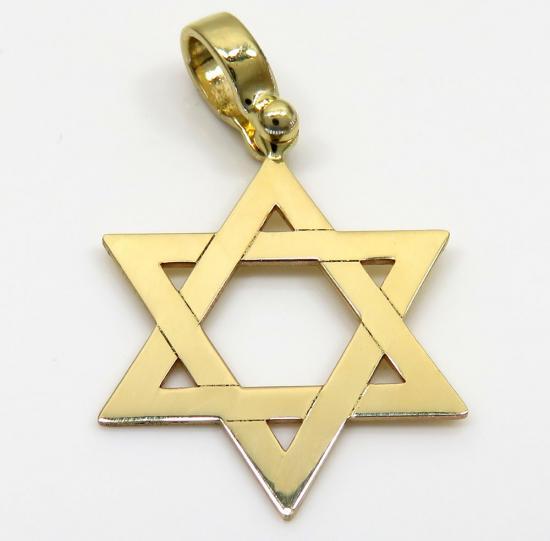14k Yellow Gold Small Star Of David Pendant