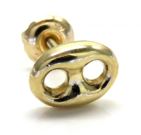 14k Yellow Gold Single Mini Puffed Gucci Hollow Earring
