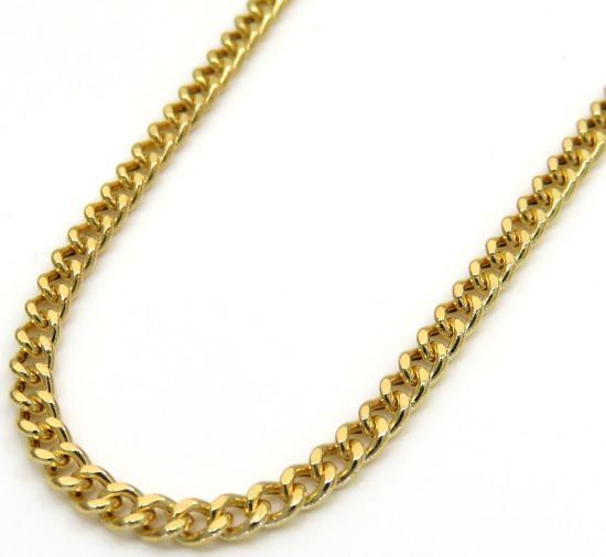 10k Yellow Gold Hollow Miami Cuban Chain 20-24 Inch 2.20mm