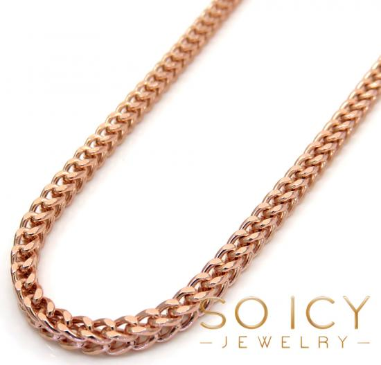 10k Rose Gold Hollow Franco Chain 22-24 Inch 2.50mm