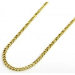 10k Yellow Gold Super Skinny Miami Chain 20 Inch 1.5mm
