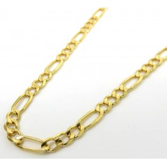 14k Yellow Gold Solid Figaro Link Chain 18-22 Inch 4.20mm