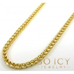 14k Solid Yellow Gold Franco Chain 18-24 Inch 2mm