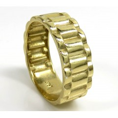 14k Gold 7.80mm Presidential Style Ring