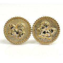10k Yellow Gold Mini Angel Earrings