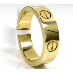 18k Yellow Gold Screw Band Ring
