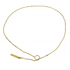 Ladies 18K Yellow Gold Box Link To Love Gucci Necklace