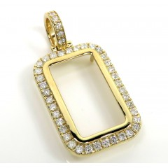 10k Yellow Gold Large Diamond Frame Pendant 1.35ct