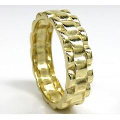 10k Gold 6mm Presidential Style Ring