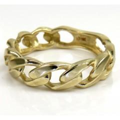 10k Yellow Gold 5.80mm Cuban Link Ring