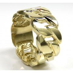 10k Yellow Gold Large 12mm Cuban Ring