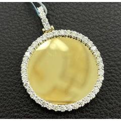 10k Yellow Gold Large Diamond Picture Pendant 1.61ct