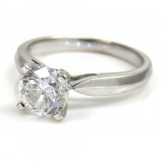 18k White Gold Round Diamond Engagement Ring 0.80ct