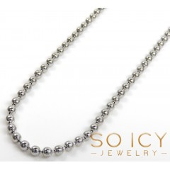 925 White Sterling Silver Ball Link Chain 24-36 Inch 2mm