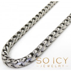 925 White Sterling Silver Solid Franco Chain 18-30 Inches 4.5mm