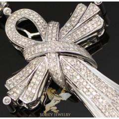 2.05ct 14k White Gold Round Diamond loop Cross