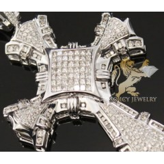 3.50ct 14k White Gold Diamond double Cut Cross