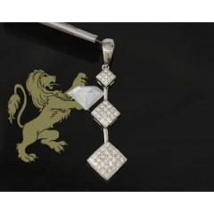 1.00ct 14k White Gold Diamond past,present & Future Pendant