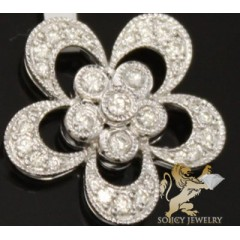0.50ct 14k White Gold Diamond flower Pendant