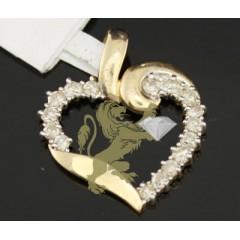 0.50ct 14k Yellow Gold Diamond classic Heart Pendant