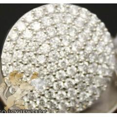 4.25ct 14k White Gold Diamond xl Snow Caps Earrings