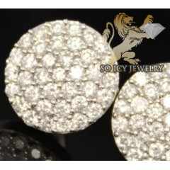 1.75ct 14k White Gold Round Diamond snow Caps Earrings