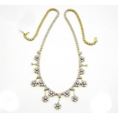 14k Yellow Gold Cluster F...