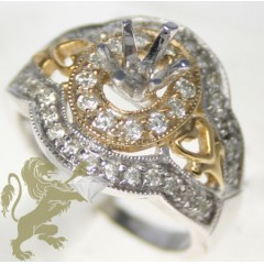 0.50ct 14k Solid Two Tone...