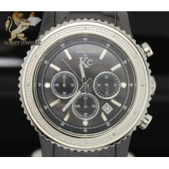 0.15ct Mens Techno Com By Kc Diamond Watch black Ceramic