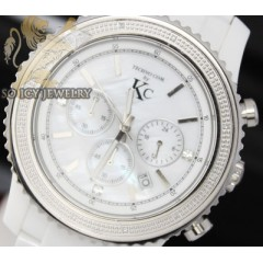 0.15ct Mens Techno Com By Kc Diamond Watch white Ceramic