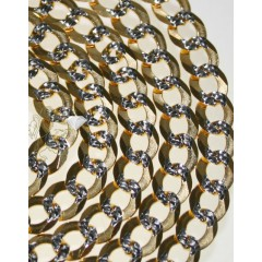 10k Yellow Gold Diamond Cut Cuban Chain 26-36 Inch 6mm