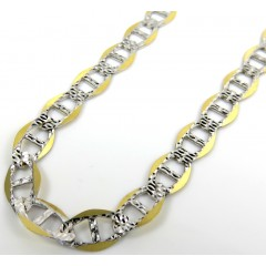 10k Yellow Gold Yellow Pave G Mariner Chain 30inch 7mm